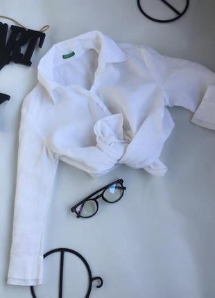 Идеальная белая льляная рубашка