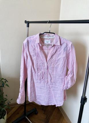 Рубашка в полосочку, блузка, блуза, рубашка, розовая рубашка