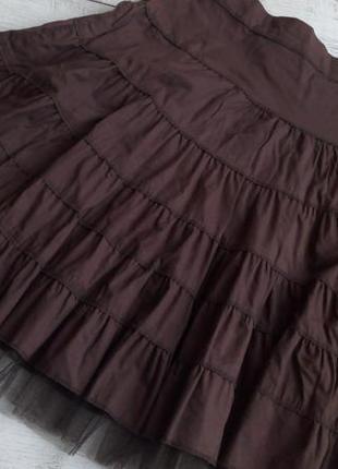 Шикарная хлопковая юбка с фатином