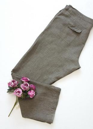 Брюки, штаны, yessica, германия. лен. большой размер.