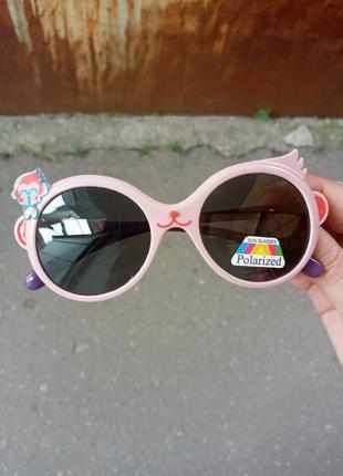 Стильные качественные детские очки для девочки обезьянка polarized  гибкая оправа