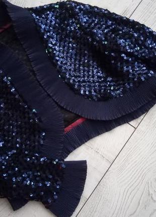 Очень крутой пиджак болеро накидка чешуя паетки