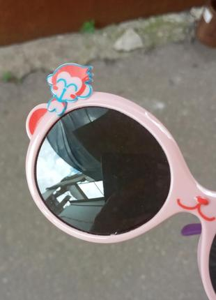 Стильные очки для девочки гибкая оправа polarized обезьянка антибликовые