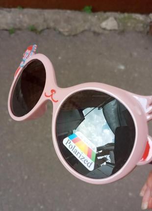 Детские очки для девочки качественные гибкая оправа polarized