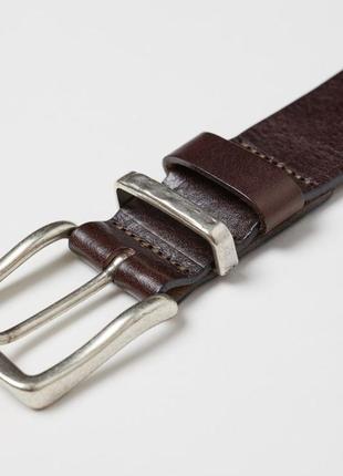Мужской кожаный брендовый ремень h&m. размер 100 см