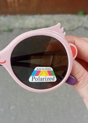 Стильные очки для девочки качественные polarized гибкая оправа