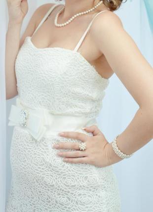 Короткое свадебное платье. хороший торг!