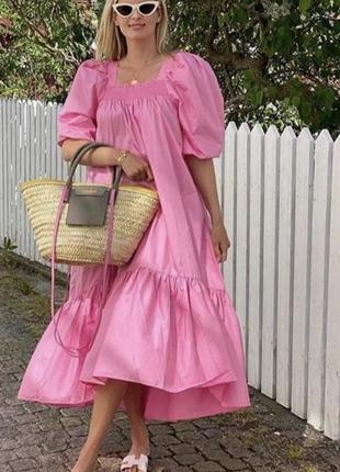 Платье h&m m-l зефирка