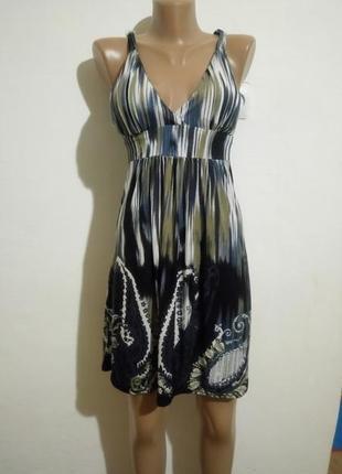 Елегантне плаття з кольоровим принтом(елегантное платье с цветочным принтом)