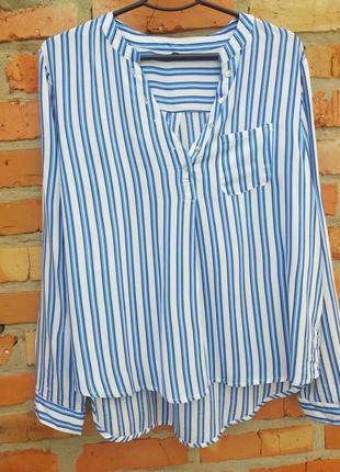 Блуза полоска ультра легка
