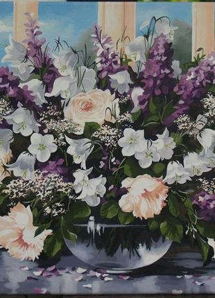 Картина по номерам весенний букет
