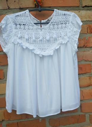 Блуза біла шикарна