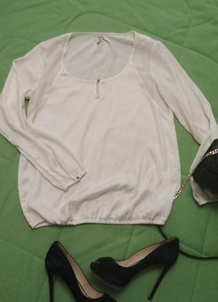 Базовая белая блузочка. м