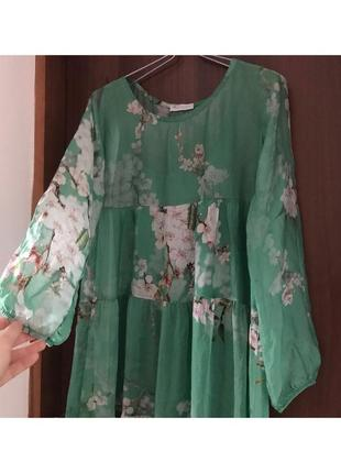 Длинное платье, сарафан, двойка, шифоновое платье италия, с, м
