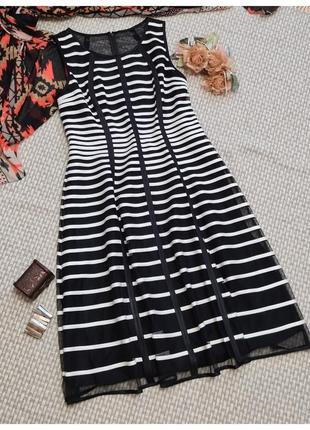 Нарядное платье в полоску roman originals/ленточная полоска/полосатое платье
