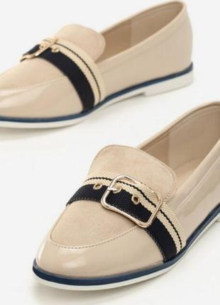 Необычные лоферы туфли балетки