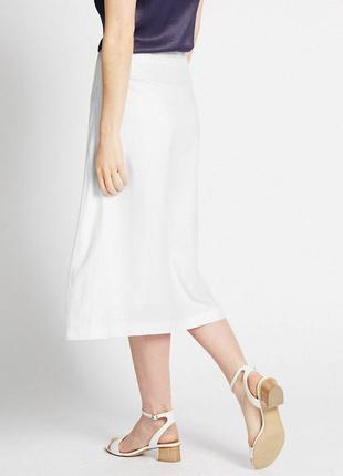 Льняная миди юбка с вышивкой m&co