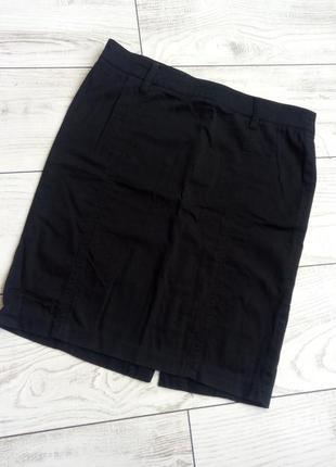 Чёрная базовая юбках