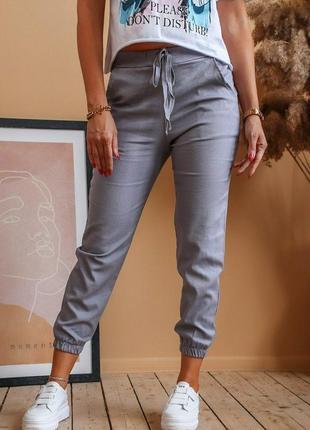 Штаны брюки лен
