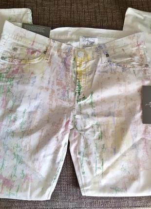 Новые летние джинсы 7 for all  mankind батик (second skin), сделаны в италии белые скинни