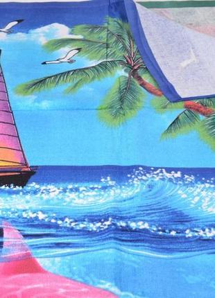 Пляжний махровий рушник хорошої якості 140*70см