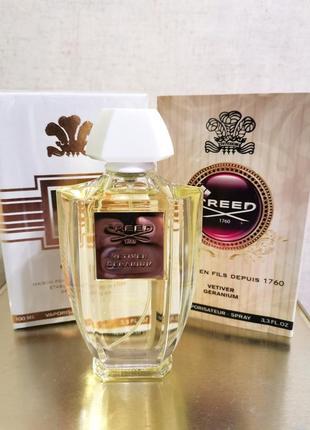Creed vetiver geranium 100ml, парфюм, духи - древесный, фужерный
