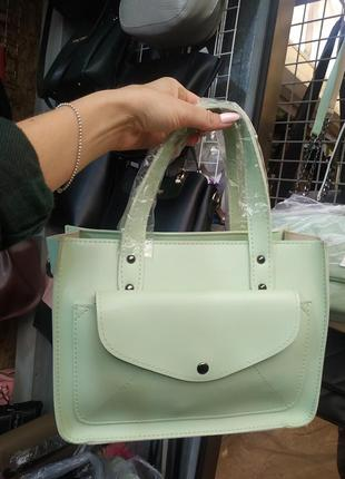 Красивая сумка мятного цвета