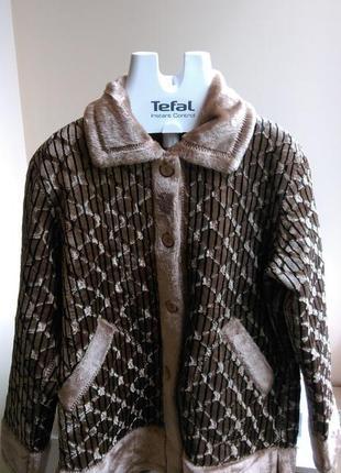 Новая женская демисезонная меховая двусторонняя куртка (мех искусственный)