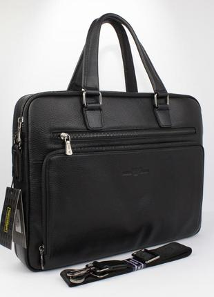 Кожаный портфель, сумка для документов, папка giorgio armani 6619-3, 39*30*9 см