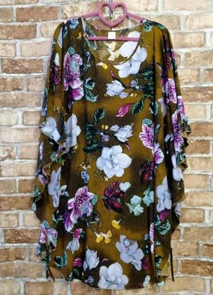 Блуза туника штапель большой размер