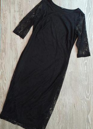 Кружевное платье футляр миди george размер 10