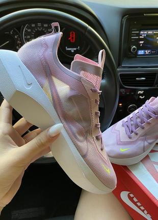 Женские розовые кроссовки nike vista white pink