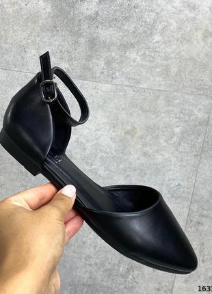 Балетки черные 001