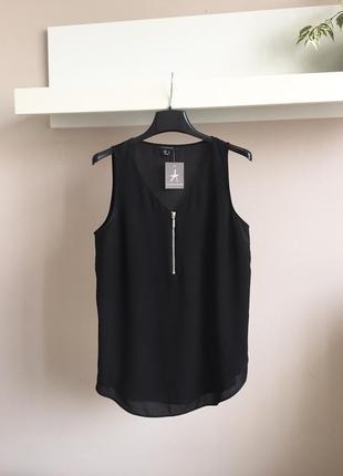 Стильная шифоновая блуза на замочке