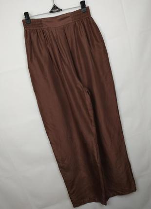 Штаны брюки легкие шикарные шелковые с карманами 100% шёлк! uk 14/42/l