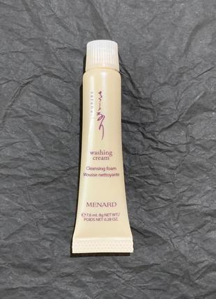 Миниатюра крем для умывания menard saranari washing cream, 7,6мл