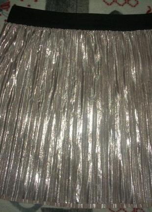 Шикарная юбка плиссе 46-48 р river island ривер айленд