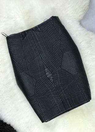 Мини-юбка mango suit из кожзама