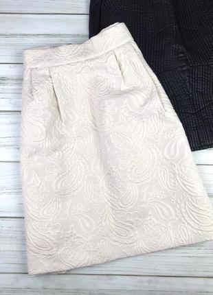 Пышная фактурная юбка h&m с карманами