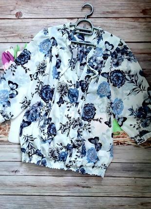 Воздушная блузка шифоновая