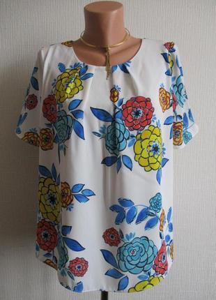Sale! блузка в цветочный принт tu