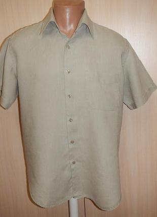 Льняная тенниска рубашка rowlands p.l