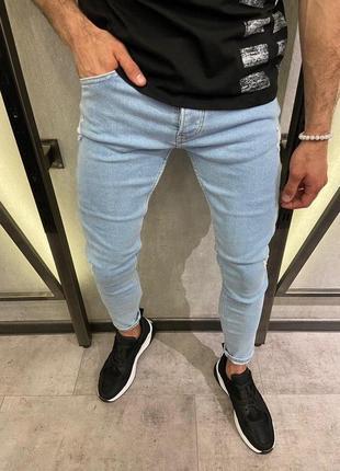 Мужские зауженные джинсы, качественный турецкий коттон (29-36)