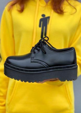 Ботинки женские, мужские dr. martens platform, черные (доктор мартинс, мартинсы, обувь)1 фото