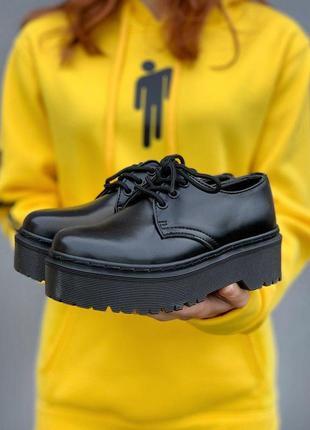 Ботинки женские, мужские dr. martens platform, черные (доктор мартинс, мартинсы, обувь)3 фото