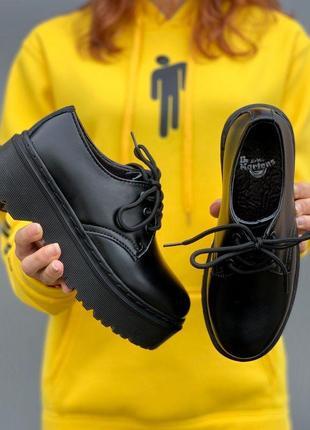 Ботинки женские, мужские dr. martens platform, черные (доктор мартинс, мартинсы, обувь)4 фото