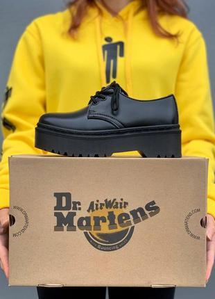 Ботинки женские, мужские dr. martens platform, черные (доктор мартинс, мартинсы, обувь)2 фото
