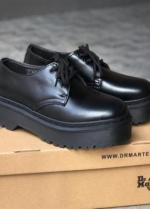Ботинки женские, мужские dr. martens platform, черные (доктор мартинс, мартинсы, обувь)8 фото
