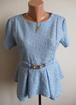 Фактурная блуза с баской collection london