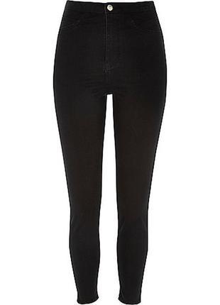 Черные джинсы скинни американки с высокой талией посадкой узкачи джеггинсы
